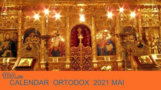 2021 MAI Calendar Creștin Ortodox